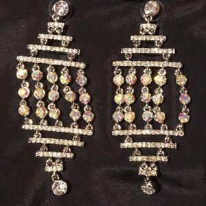 Scaasi Crystal chandelier earrings